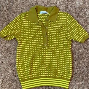 Textured collared shirt